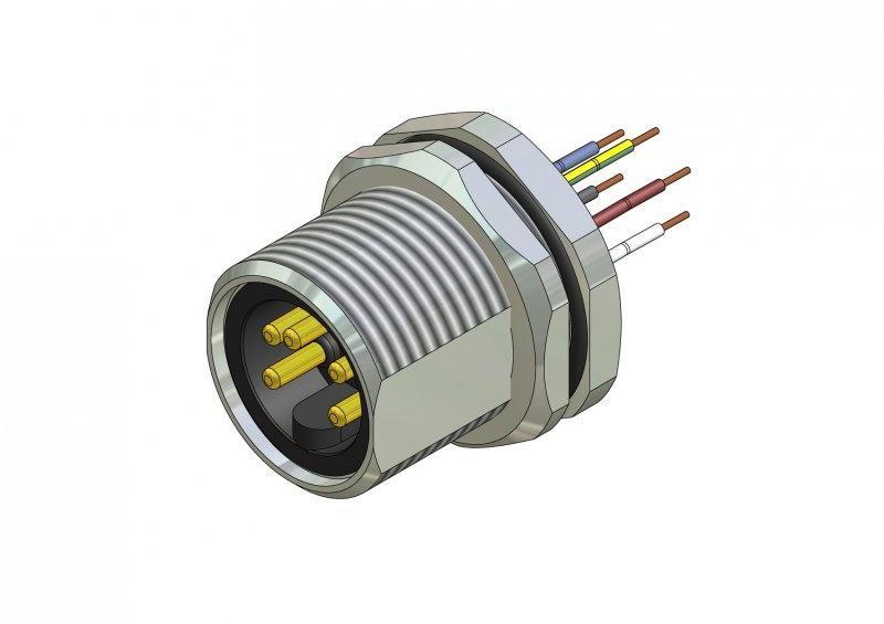 "7/8"" Panel mount connectors, circular connectors - 7/8"" Panel mount connectors, circular connectors"