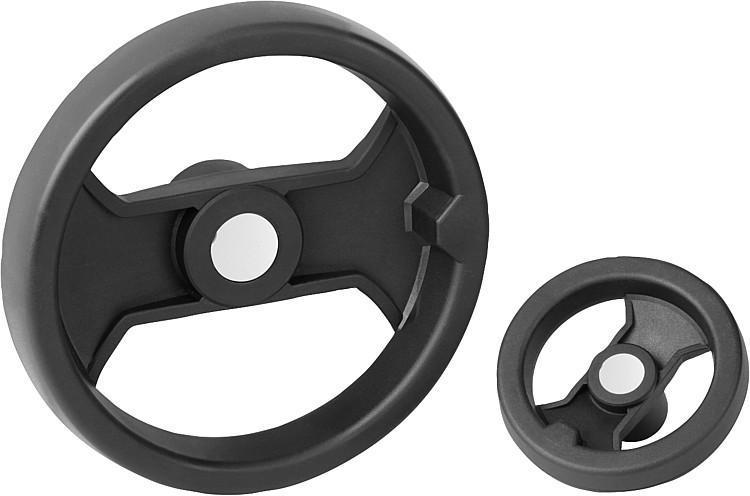 Handwheels 2-spoke plastic, inch - K0725 inch