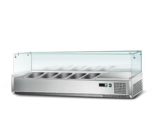 Food display cabinet - Refrigerated food display cabinet 1,2 m x 0,34 m - for 5x 1/
