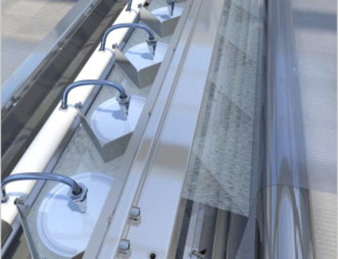 Folienbeschichtung  - mit WEKO-Flüssigkeits-Auftragssystem