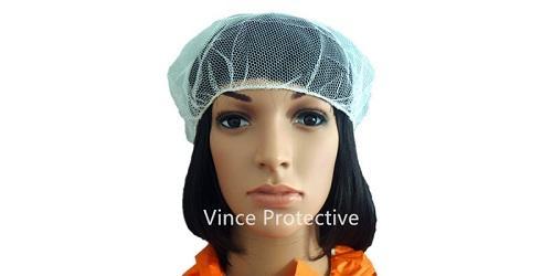 Gorra de malla de nylon blanco -
