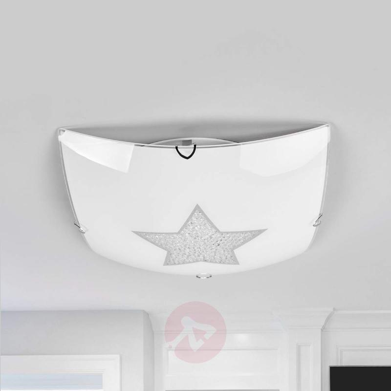 Sparkling LED ceiling light Star with crystals - Ceiling Lights