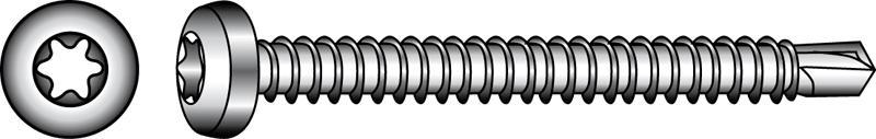 Bohrschrauben mit Linsenkopf, Form M, TX - Material A2 | A4