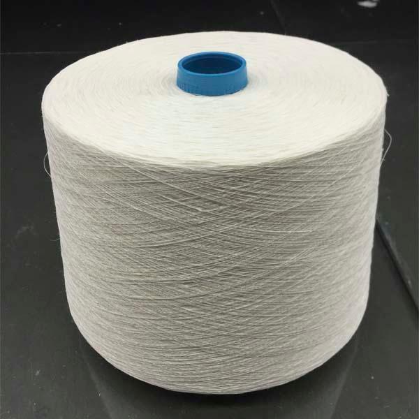 Long hemp half bleached yarn