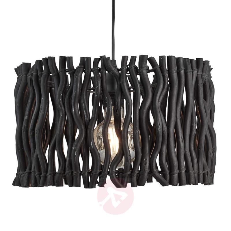 Driftwood Beach hanging light in black - indoor-lighting