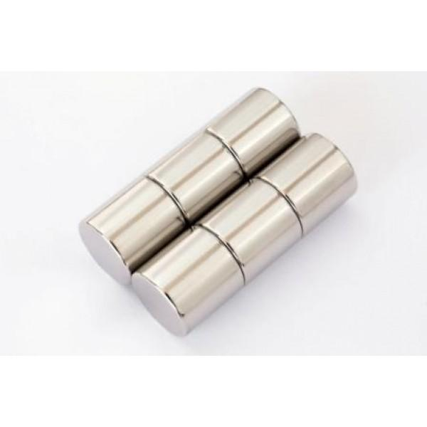 Neodymium disc magnet 15x15mm, N45, Ni-Cu-Ni, Nickel coated - Disc