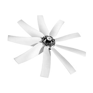 C-ALU high temperature sickle profile axial fan