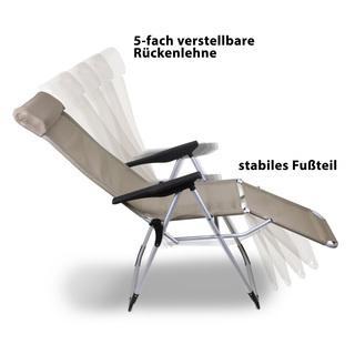 Relax Gartenstuhl Aluminium Hochlehner sand - null