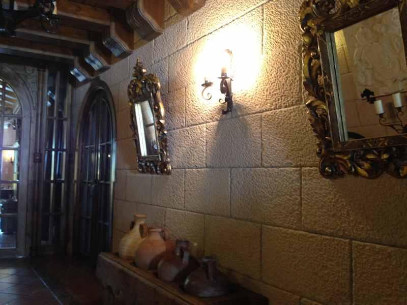 "Interior of Restaurant with Sandstone ""Ronda"""