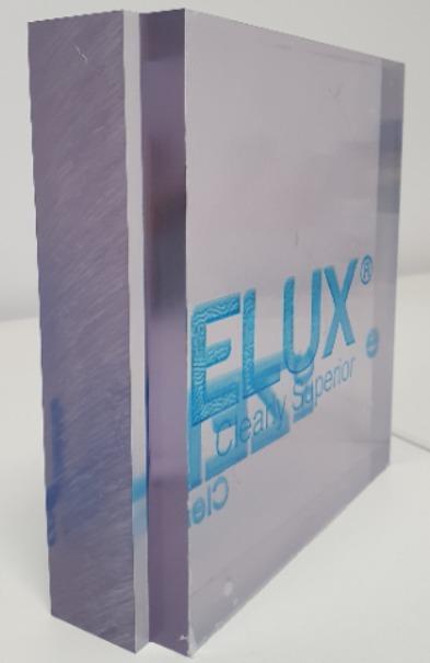 Zelux W: Polycarbonate transparent de haute qualité optique  - Plaques pressées de 9,52mm à fortes épaisseurs jusqu'à 50,8mm en standard