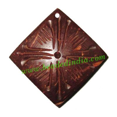 Handmade coconut shell wood pendants, size : 26x3mm - Handmade coconut shell wood pendants, size : 26x3mm