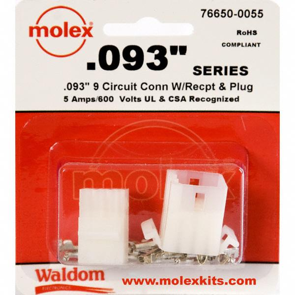 "KIT CONN STD .093"" 9 CIRCUITS - Molex Connector Corporation 76650-0055"