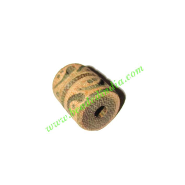 Wooden Carved Beads, size 14x18mm, weight approx 2.52 grams - Wooden Carved Beads, size 14x18mm, weight approx 2.52 grams
