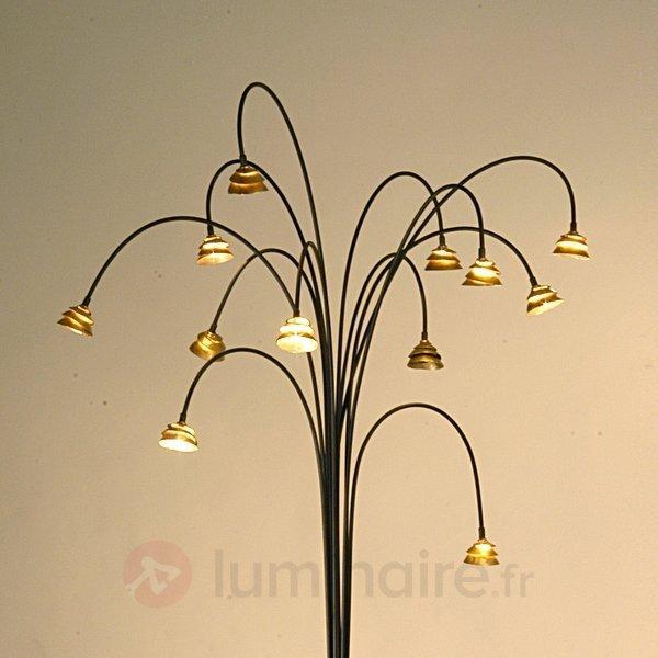 Impressionnant lampadaire Fontaine, brun et or - Lampadaires design