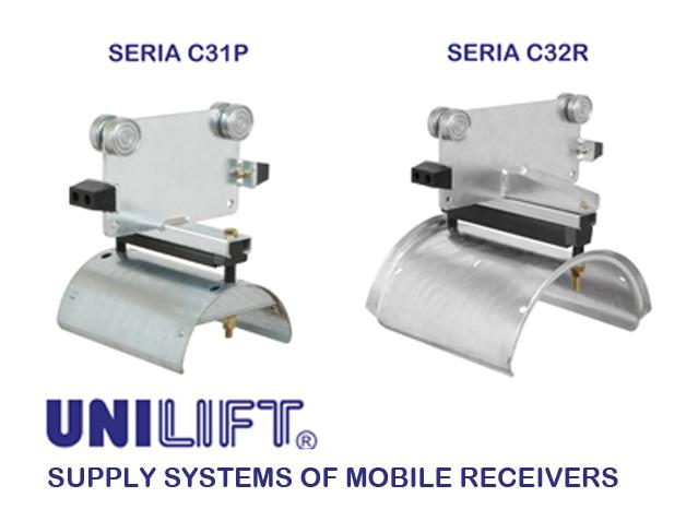 Cable trolleys for C-rail system - C3 - for flat cables, for round cables