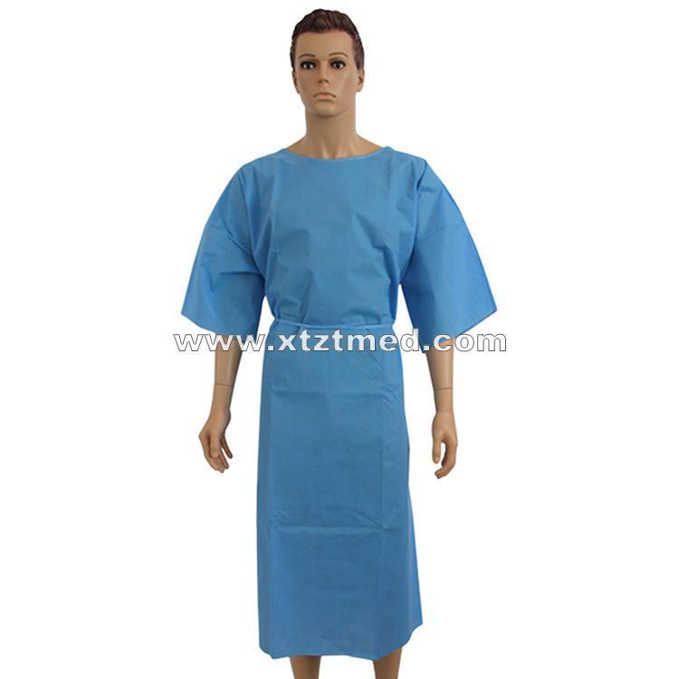 Kurzarm-Patienten-Kleid - Typ: Einweg-Patientenkittel