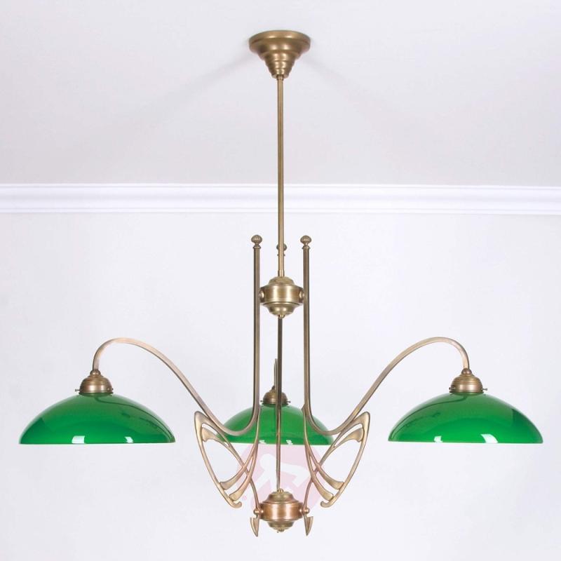 THEODOR green hanging light brass, 116 cm - design-hotel-lighting
