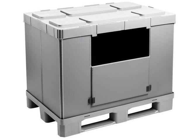 Grand bac pliable: Mega-Pack 1200 Hybox - Grand bac pliable: Mega-Pack 1200 Hybox, 1200 x 800 x 940 mm