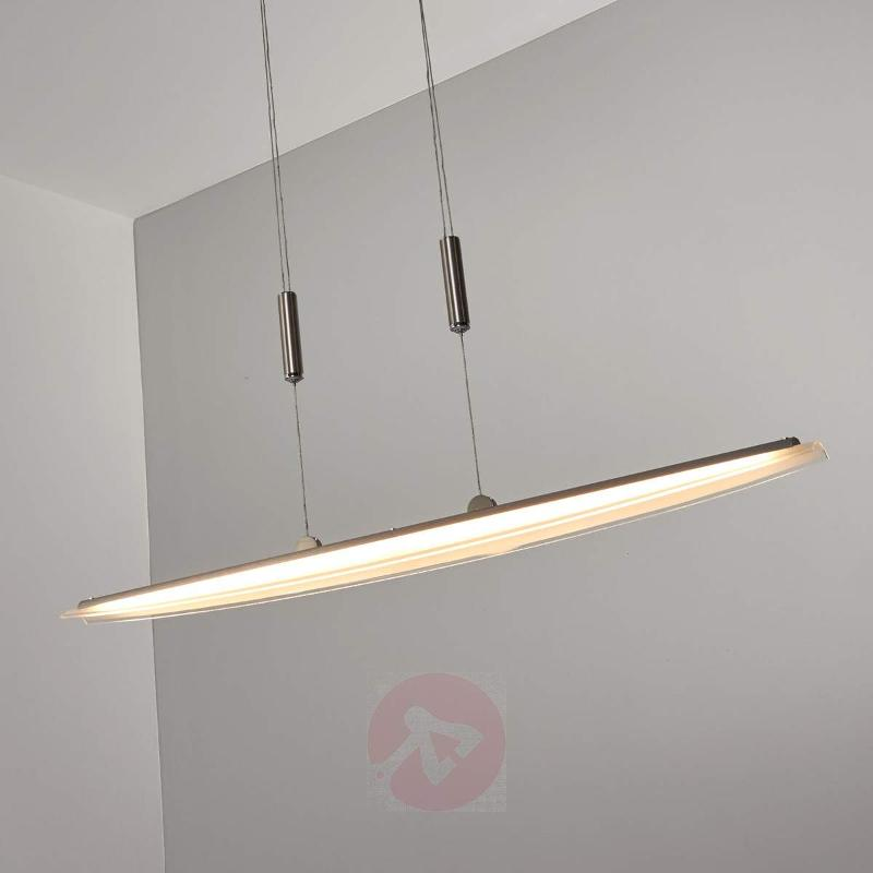 Linear LED pendant light Clariss, adj.-height - Pendant Lighting