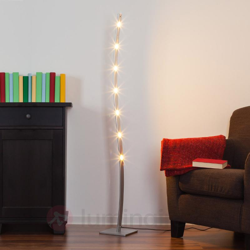 Lampadaire LED Xalu à int variable blanc chaud - Lampadaires LED