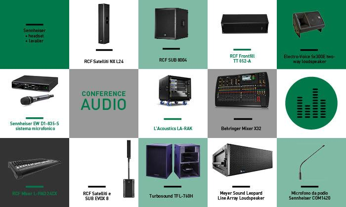 Conference audio - Trade fairs, Conventions, Television, Concerts, Fashion and Sportive Events