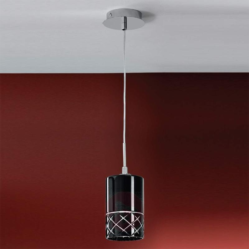 Renke Facet Cut Hanging Light Black - Pendant Lighting