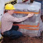 Orangefarbenes Bautenschutzband auf Gewebebasis - AT6200