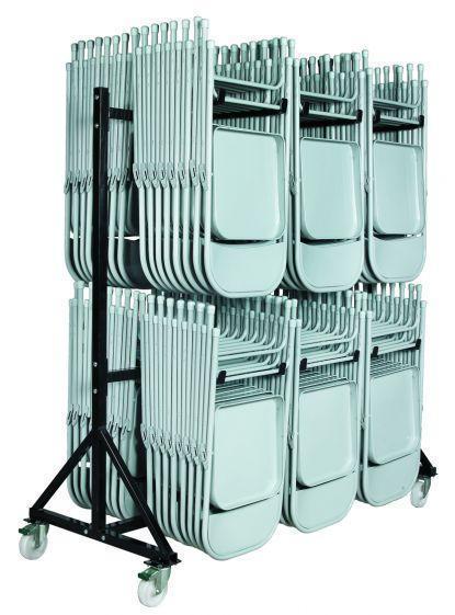 Chariot 96 chaises pliantes - Mobilier Intérieur