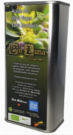 ACEITE OLIVA VIRGEN EXTRA ECOLÓGICO LATA 500ML. 7,05€ - Aceite de Oliva Virgen Extra Ecológico Gil Luna Procedente de Málaga.