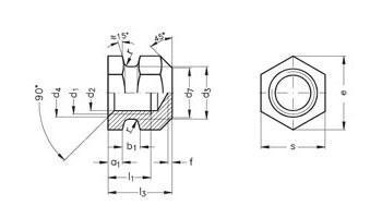 Gewindebuchsen - geschlossen, für Kunststoff-Formteile