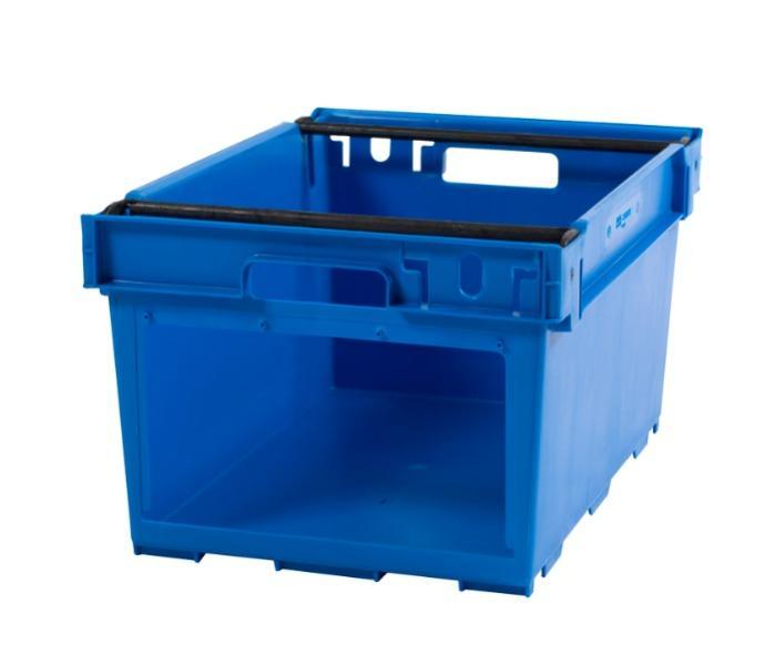 Contenitore in plastica inserible e sovrapponibile  - Picking, sovrapponible su archi posizionabili, 53L (chiuso  e /o forate)