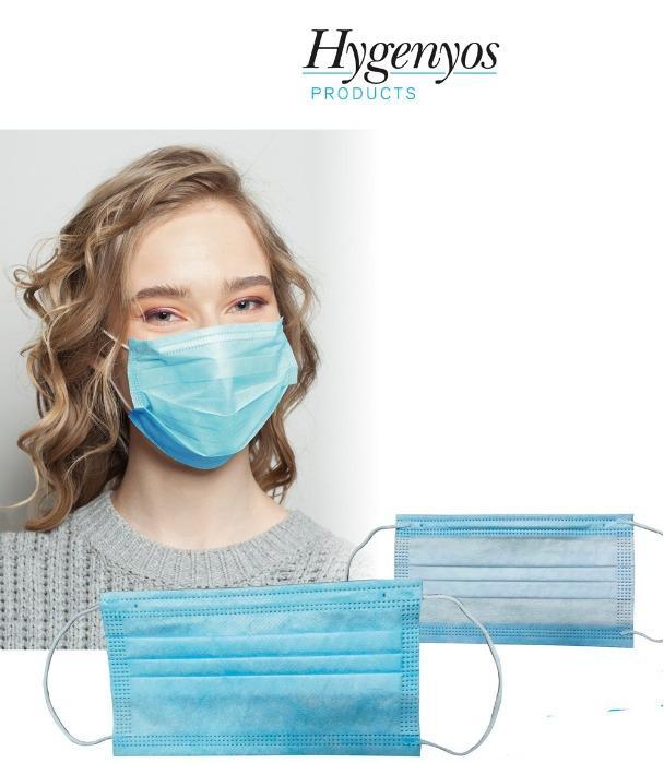 Hygenyos Mask - Dreilagiger Vlies, ausgezeichnete Filterleistung, unsteril, fusselfrei