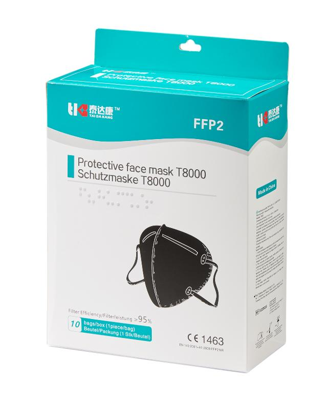 Ffp2 Respirator Mask Black Edition  - CE certified