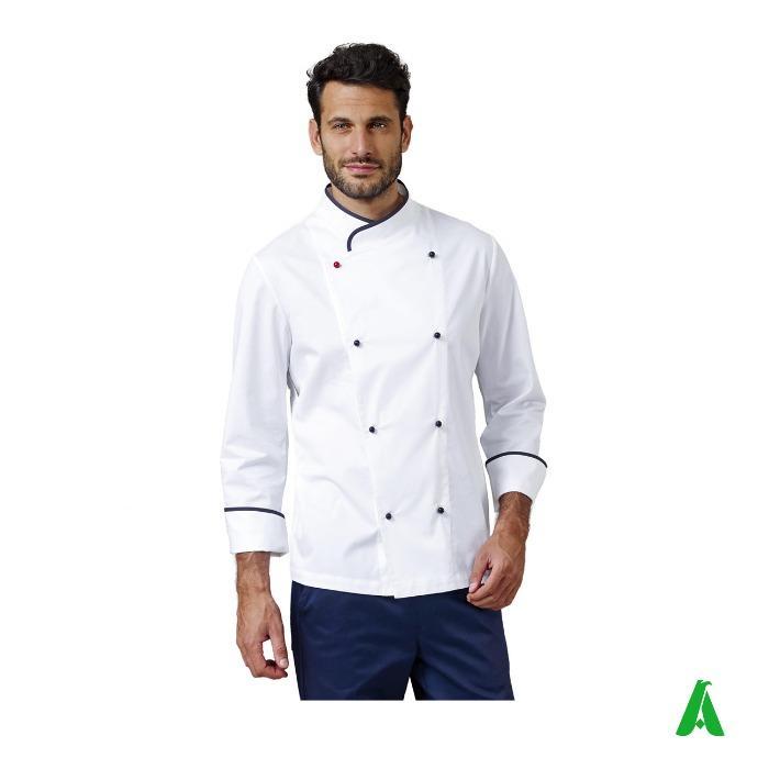 Giacca da chef con bottoni e logo - Giacca da cucina personalizzabile