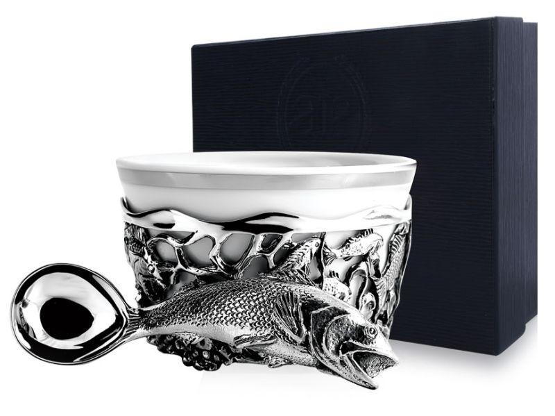 """Чайно-кофейная коллекция """"Серебро & Фарфор"""" - Чайные и кофейные чашки, сахарницы, чайники, молочники, наборы для специй"""