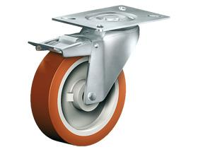 SWIVEL CASTOR WITH TOTAL LOCK - Stainless Steel Castors