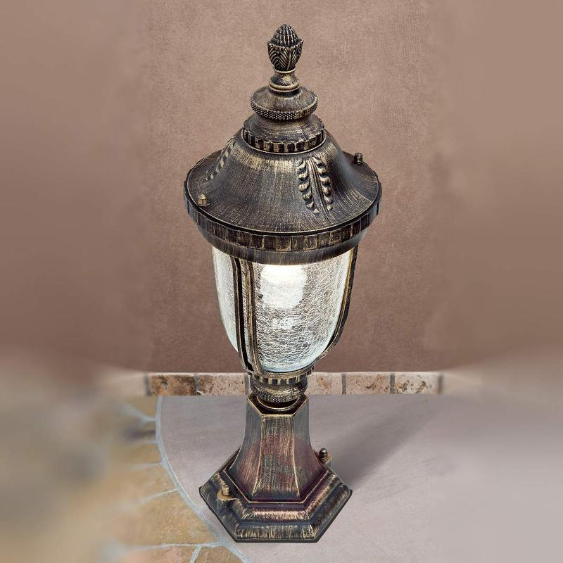 Paula Pillar Light Traditional Patterned Glass - Pillar Lights