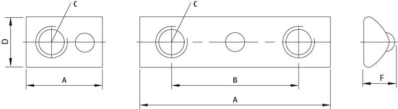 Nutensteine - einschwenkbar, mit Gewinde - null