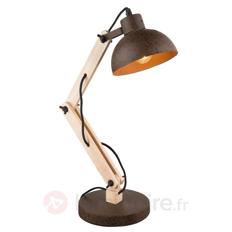 Lampe à poser bois Taio, articulée - Lampes de bureau