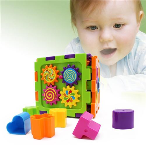 Shape Sorting Cube - Wishtime Activity Gear Puzzle