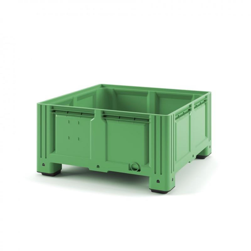Plastic iBox Container 1130x1130x580 (solid, with legs) - Art.: 11.604SF.70.С10