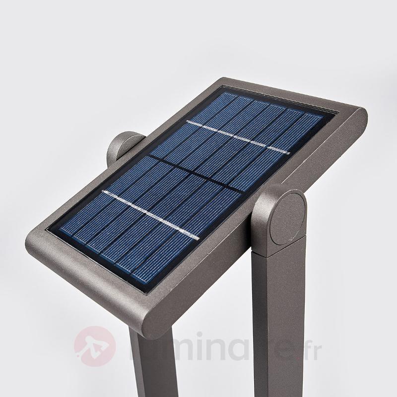 Borne lumineuse solaire Valerian avec LED, 60 cm - Lampes solaires avec détecteur