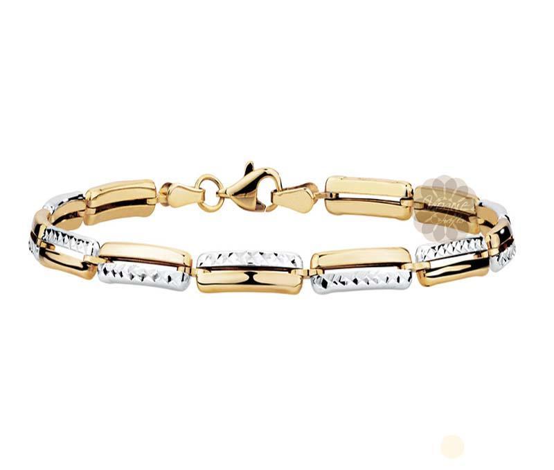 Fancy Two Tone Gold Bracelet -