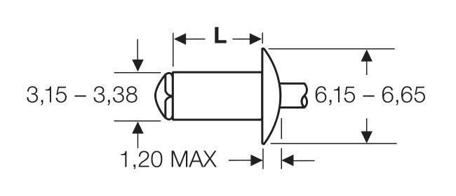 "Blind rivet technology - POP® - ""Peel"" - Peel-rivets - Domed head"