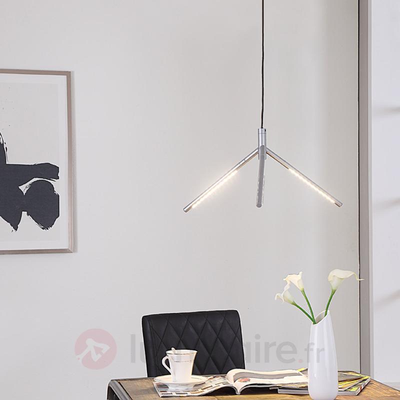 Suspension LED Mirca, argenté - Suspensions LED