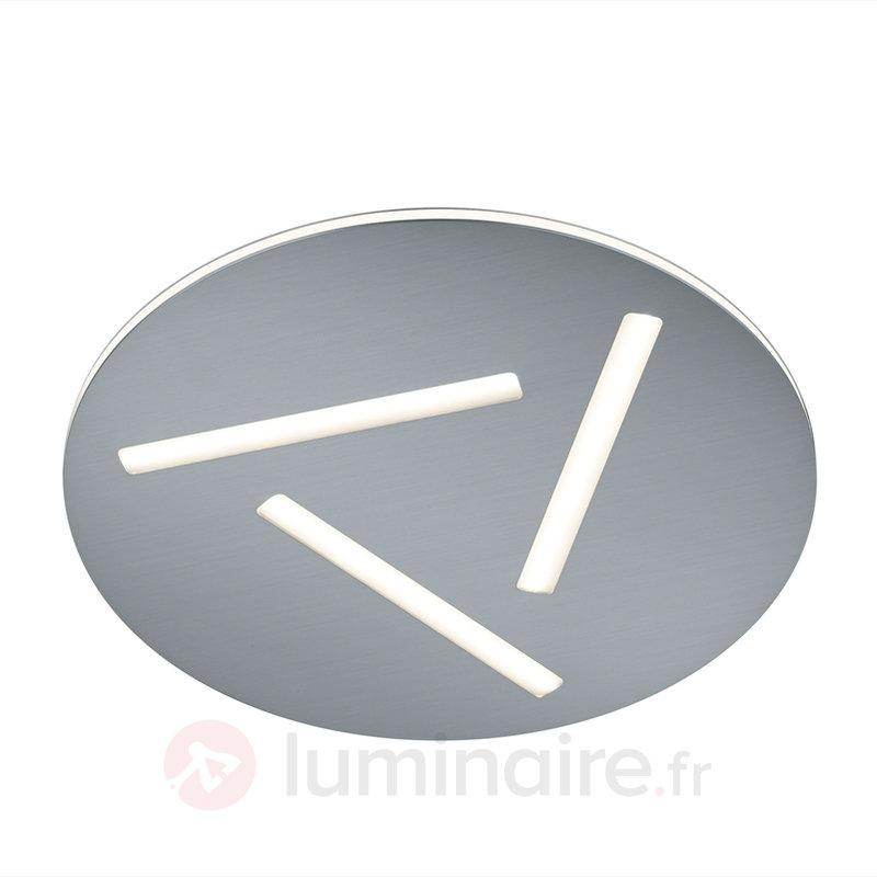 Plafonnier LED rond Modena 29,5 cm - Plafonniers chromés/nickel/inox