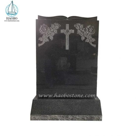 Natural Stone Monument Book Top Headstone G654 Tombstone - Tombstone Sets