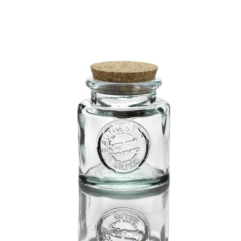 3 pièces Bocaux ronds 250 ml AUTHENTIC avec bouchon en liège - Pots et bocaux Ronds
