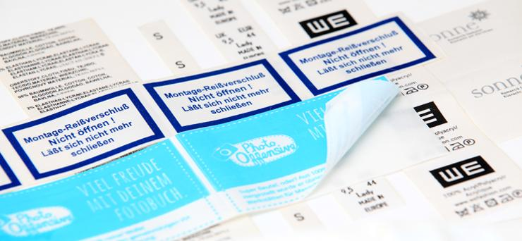 Textile adhesive labels - null