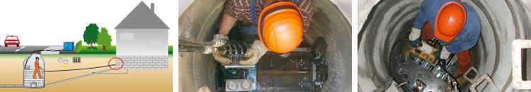 GRUNDOPIT Manhole - Pipe installation